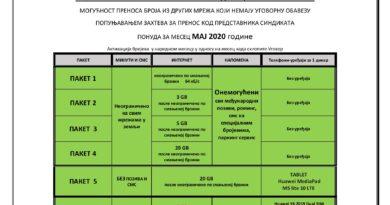 СПЕЦИЈАЛНА ПОНУДА САМО ЗА ЧЛАНОВЕ ВОЈНОГ СИНДИКАТА СРБИЈЕ
